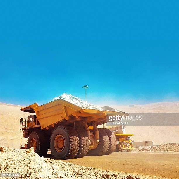 Truck in open mine