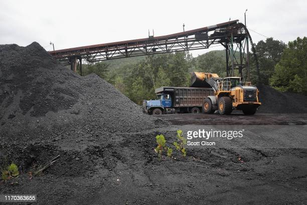 Truck is loaded with coal at a mine on August 26, 2019 near Cumberland, Kentucky. Eastern Kentucky, once littered with coal mines, is seeing that...