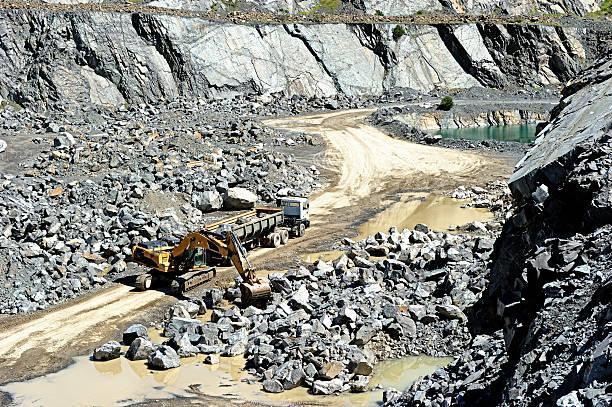 Truck Loaded In Open Pit Gravel Mine Wall Art