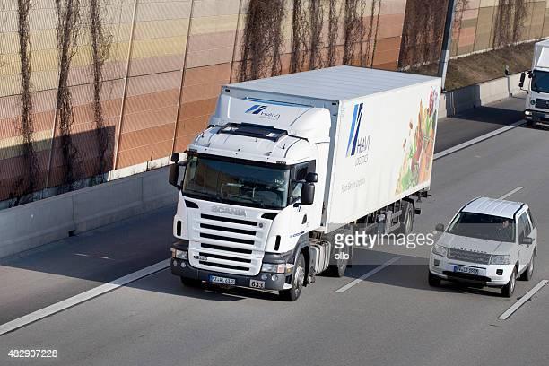 Truck on german Autobahn