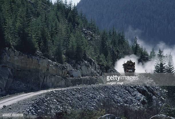 Truck on Lane on Mountain