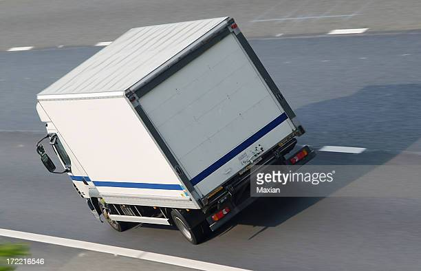 truck on motorway - luton stock pictures, royalty-free photos & images