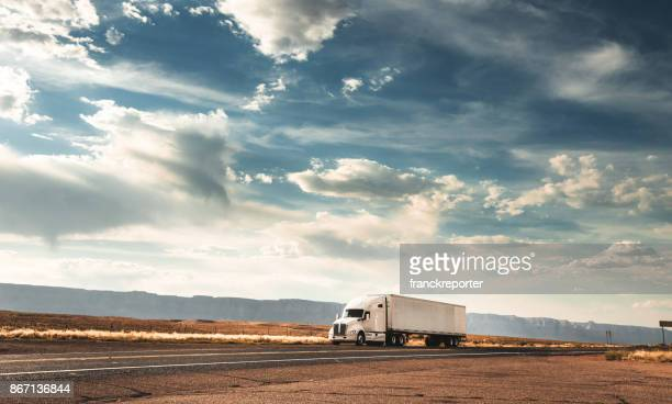 truck on the road on the route 66 - struggle stock pictures, royalty-free photos & images