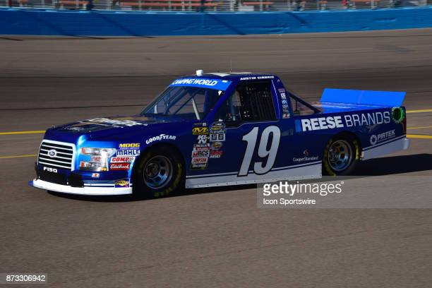 Truck Series Chase contender Austin Cindric DrawTite/Reese Brands Ford heads out onto the track at the NASCAR Playoff Lucas Oil 150 on November 10...