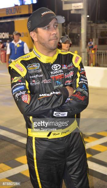 Truck Series Chase contender Matt Crafton Ideal Doors/Menards Toyota at the NASCAR Playoff Lucas Oil 150 on November 10 2017 at the Phoenix...