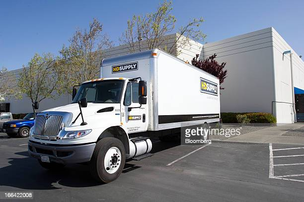 A truck sits in the parking lot at HD Supply Holdings Inc's fulfillment center in Hayward California US on Friday April 12 2013 HD Supply Holdings...