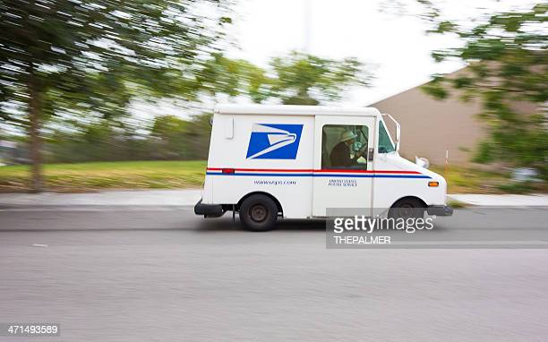 USPS truck speeding