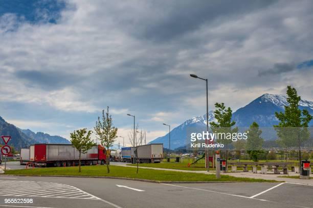 A truck stop in Austria