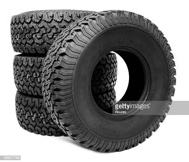Truck Tire on white