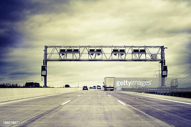 Truck toll system, german highway - control gantry