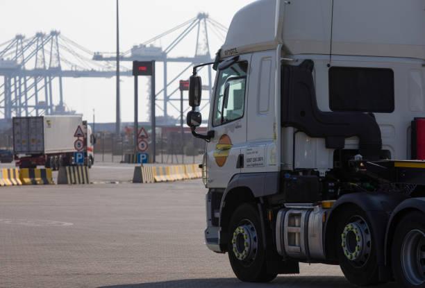 GBR: Inside DP World Plc London Gateway Port