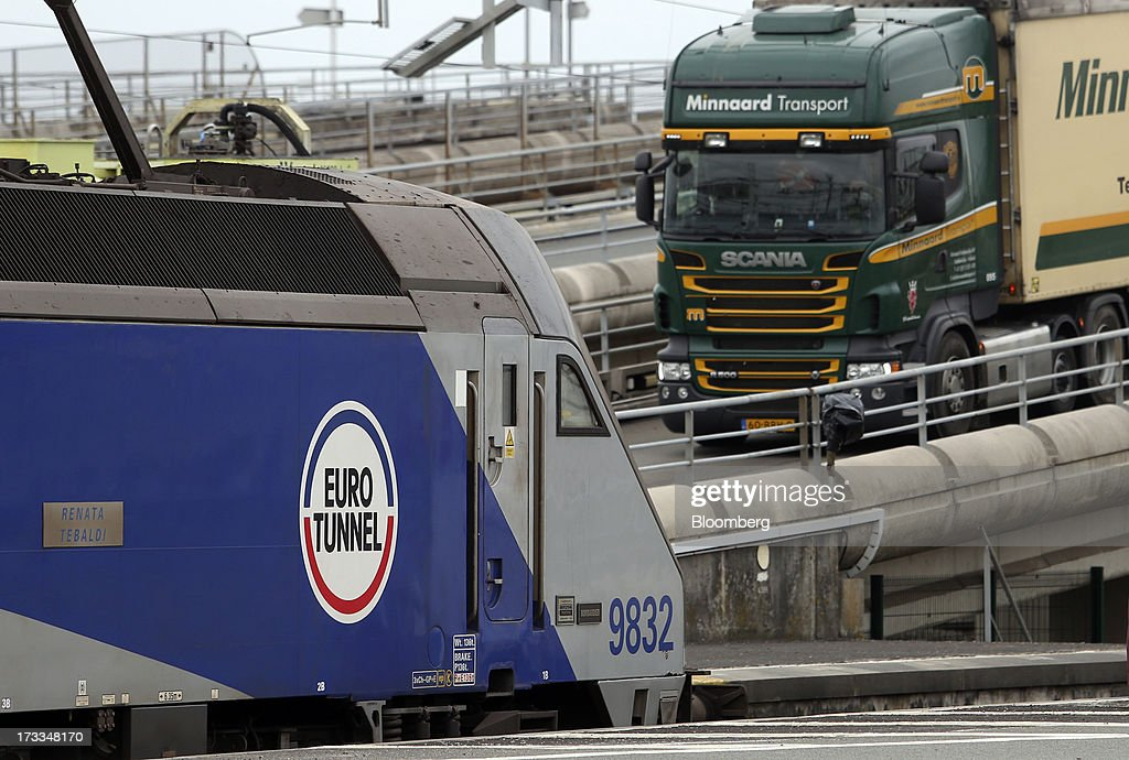Groupe Eurotunnel SA's Channel Tunnel Rail Shuttle And MyFerryLink Cross Channel Ferry Services : News Photo