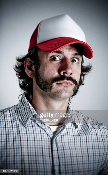 trucker affraid - trucker's hat stock pictures, royalty-free photos & images