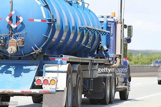Straßenfracht Abwasser