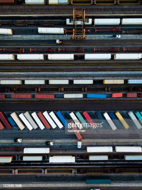 Trucks and Trains from Above