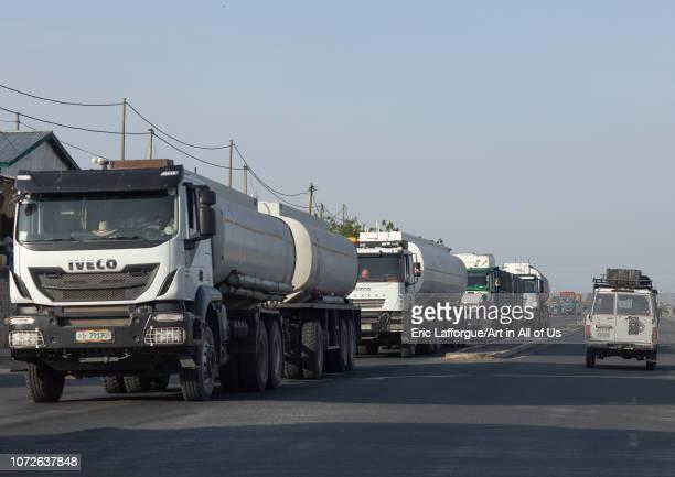 Trucks coming from djibouti port, Afar region, Semera, Ethiopia on October 31, 2018 in Semera, Ethiopia.