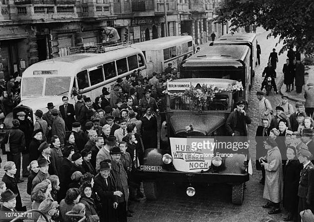 Trucks Leaving Luebeck To Berlin Immediate After The Berlin Blockade On May 14Th 1949.