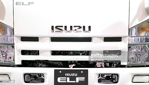 A trucks made by Isuzu Motors Ltd stands on display during a launch event in Yokohama Japan on Wednesday Dec 13 2006 Isuzu Motors Ltd Japan's biggest...