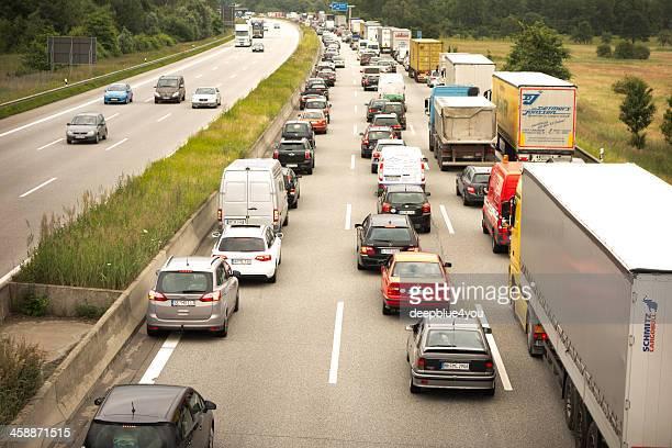 Trucks on Highway A1 Autobahn, Germany