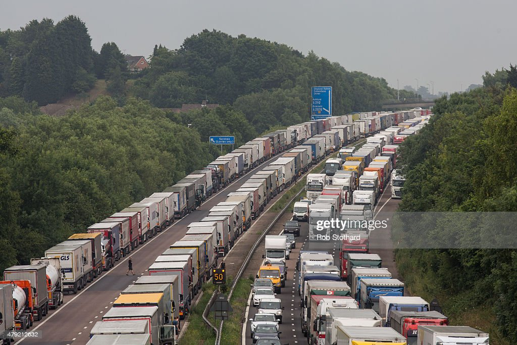 Operation Stack Extends To Phase Four In Response To Ongoing Calais Strikes : News Photo