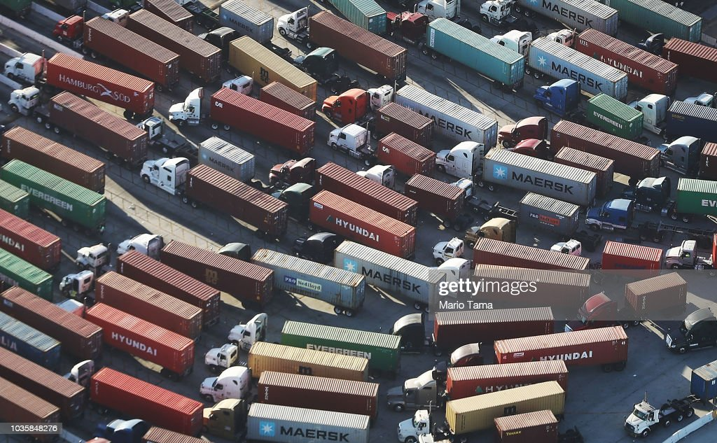 China And U.S. Continue To Ramp Up Trade War, Trading A Round Of New Tariffs : News Photo