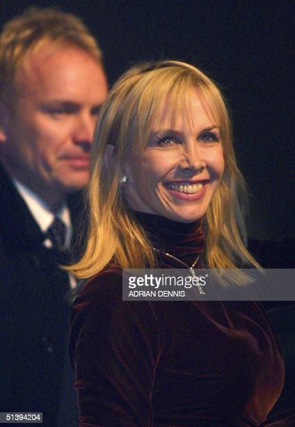 Trudi Styler and Sting leave Dornoch Cathedral after Madonna and Guy Ritchie christened their son 21 December 2000 Madonna and Ritchie christened...