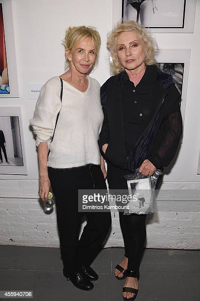 Trudie Style and Debbie Harry attend The 40th Anniversary Of Blondie exhibition at Chelsea Hotel Storefront Gallery on September 22, 2014 in New York...
