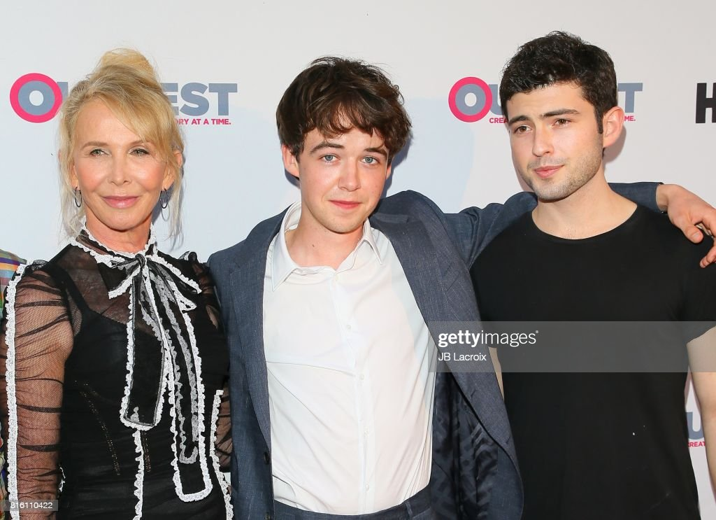 Trudie Styler, Alex Lawther and Ian Nelson attend the 2017 Outfest Los Angeles LGBT Film Festival - Closing Night Gala Screening Of ''Freak Show' on July 16, 2017 in Los Angeles, California.