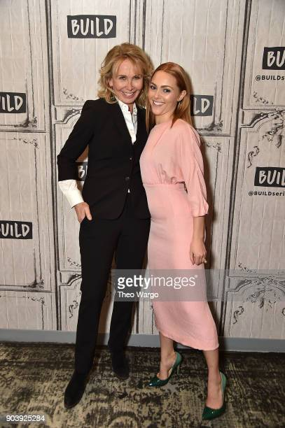 Trudie Styler and AnnaSophia Robb promote the movie 'Freakshow' at Build Studio on January 11 2018 in New York City