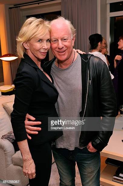 Trudie Styler and Bobby Sager attend Bobby Sager's 'Beyond the Robe' book party on November 21 2013 in New York City