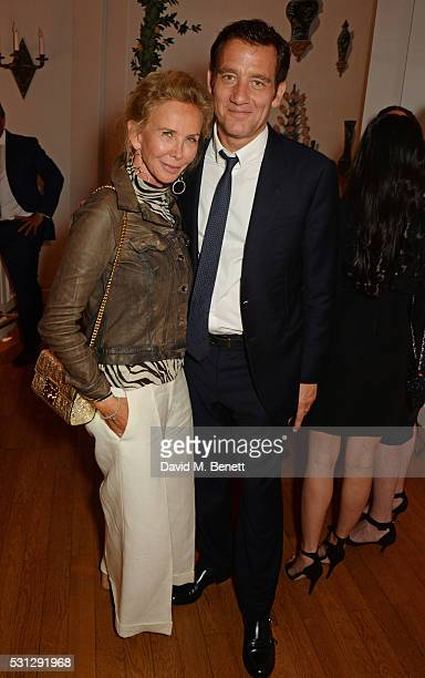 Trudie Styler and Clive Owen attend The 8th Annual Filmmakers Dinner hosted by Charles Finch and JaegerLeCoultre at Hotel du CapEden Roc on May 13...