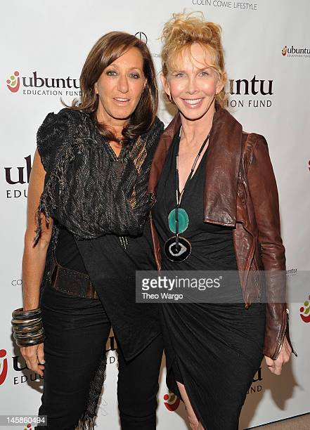 Trudie Styler and Donna Karan attend the 2012 Ubuntu Education Fund Gala at Roseland Ballroom on June 6 2012 in New York City