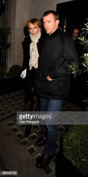 Trudie Styler and Guy Ritchie sighting at Scott's Restaurant on March 20 2009 in London England