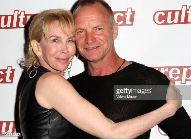 Trudie Styler and husband Sting arrive at the Opening Night Of Twin Spirits After Party At The Dorothy Chandler Pavillion on February 15 2011 in Los...