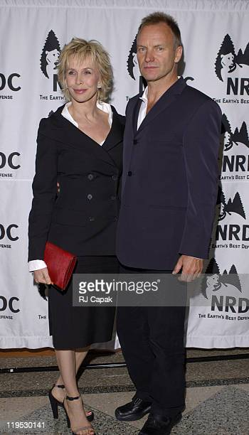 Trudie Styler and husband Sting during NRDC's 4th Annual Forces For Nature Gala Event Honoring Trudie Styler, Dan Tishman And Gary Trudeau With...