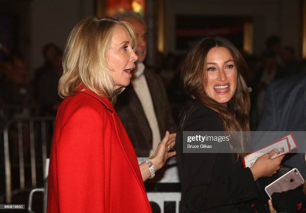 Trudie Styler and Jessica Springsteen at the opening night arrivals for 'Springsteen on Broadway' at The Walter Kerr Theatre on October 12, 2017 in New York City.