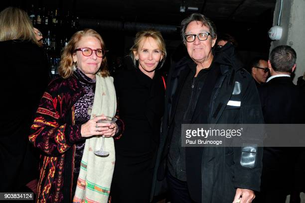 Trudie Styler and Larry Pine attend The Cinema Society Bluemercury host the after party for IFC Films' Freak Show at Public Arts on January 10 2018...