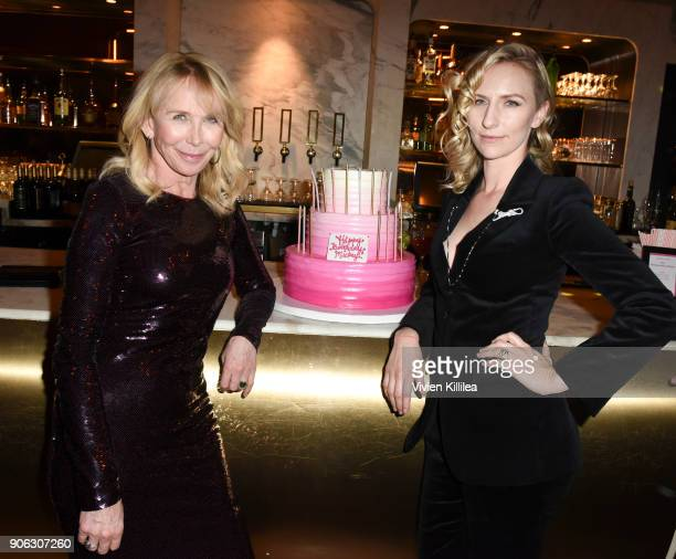 Trudie Styler and Mickey Sumner celebrate the screening and Mickey's birthday at the afterparty for FREAK SHOW LA Special Screening on January 17...