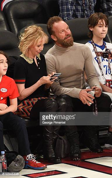 Trudie Styler and Musician Sting attend the 2016 NBA AllStar Game at Air Canada Centre on February 14 2016 in Toronto Canada