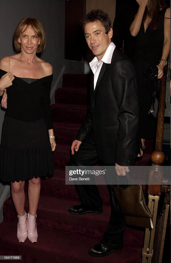 Trudie Styler And Robert Downey Jr, The Singing Detective Movie Premiere At The Everyman Theatre In Hampstead, London