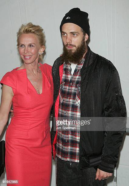 Trudie Styler and son Jake Sumner attend the IFC BAFTA Monty Python 40th Anniversary event at the Ziegfeld Theatre on October 15 2009 in New York City