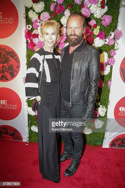 Trudie Styler and Sting attend 60th Annual OBIE Awards at Webster Hall on May 18, 2015 in New York City.