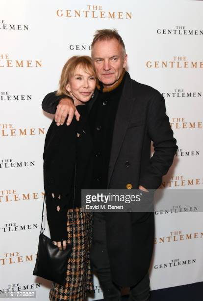 Trudie Styler and Sting attend a special screening of The Gentlemen at The Curzon Mayfair on December 03 2019 in London England