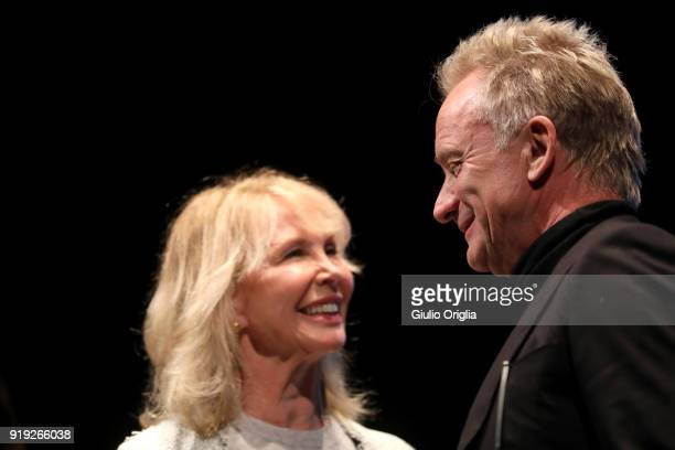 Trudie Styler and Sting attend Benvenuto Brunello 2018 at Teatro degli Astrusi on February 17 2018 in Montalcino Italy