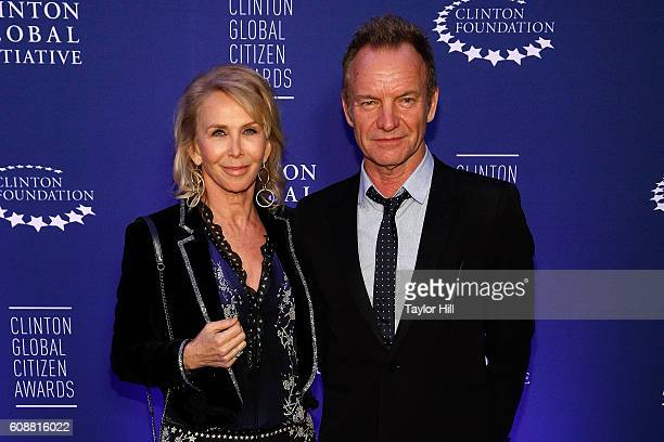 Trudie Styler and Sting attend the 2016 Clinton Global Citizen Awards at Sheraton New York Times Square on September 19 2016 in New York City