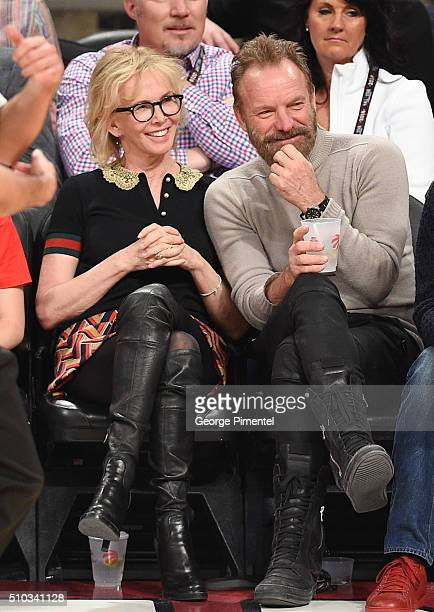 Trudie Styler and Sting attend the 2016 NBA AllStar Game at Air Canada Centre on February 14 2016 in Toronto Canada