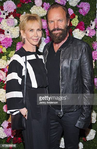 Trudie Styler and Sting attend the 60th Annual OBIE Awards at Webster Hall on May 18, 2015 in New York City.
