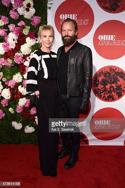 Trudie Styler and Sting attend the 60th annual Obie awards on May 18, 2015 in New York City.