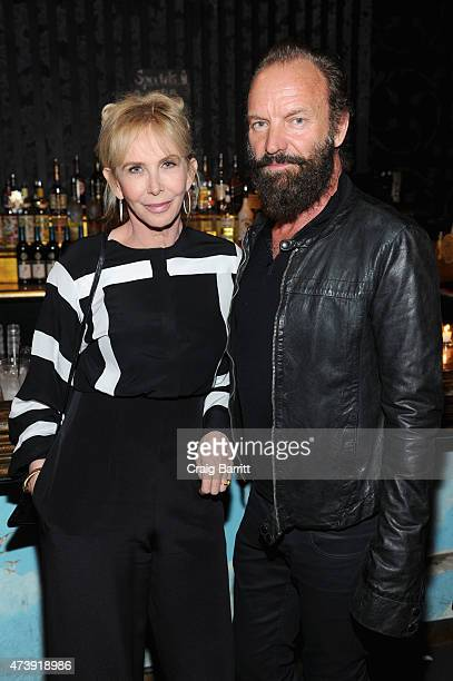 Trudie Styler and Sting attend the 60th annual Obie awards on May 18 2015 in New York City