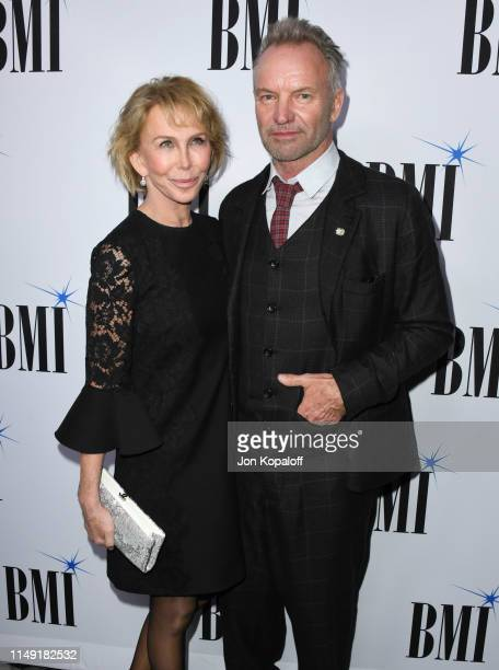 Trudie Styler and Sting attend the 67th Annual BMI Pop Awards at the Beverly Wilshire Four Seasons Hotel on May 14 2019 in Beverly Hills California